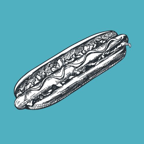 Take away hotdog