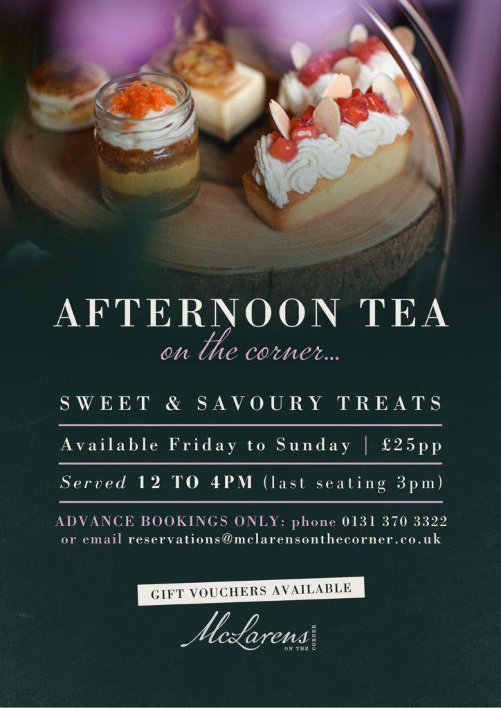 Afternoon Tea at McLarens on the Corner in Edinburgh